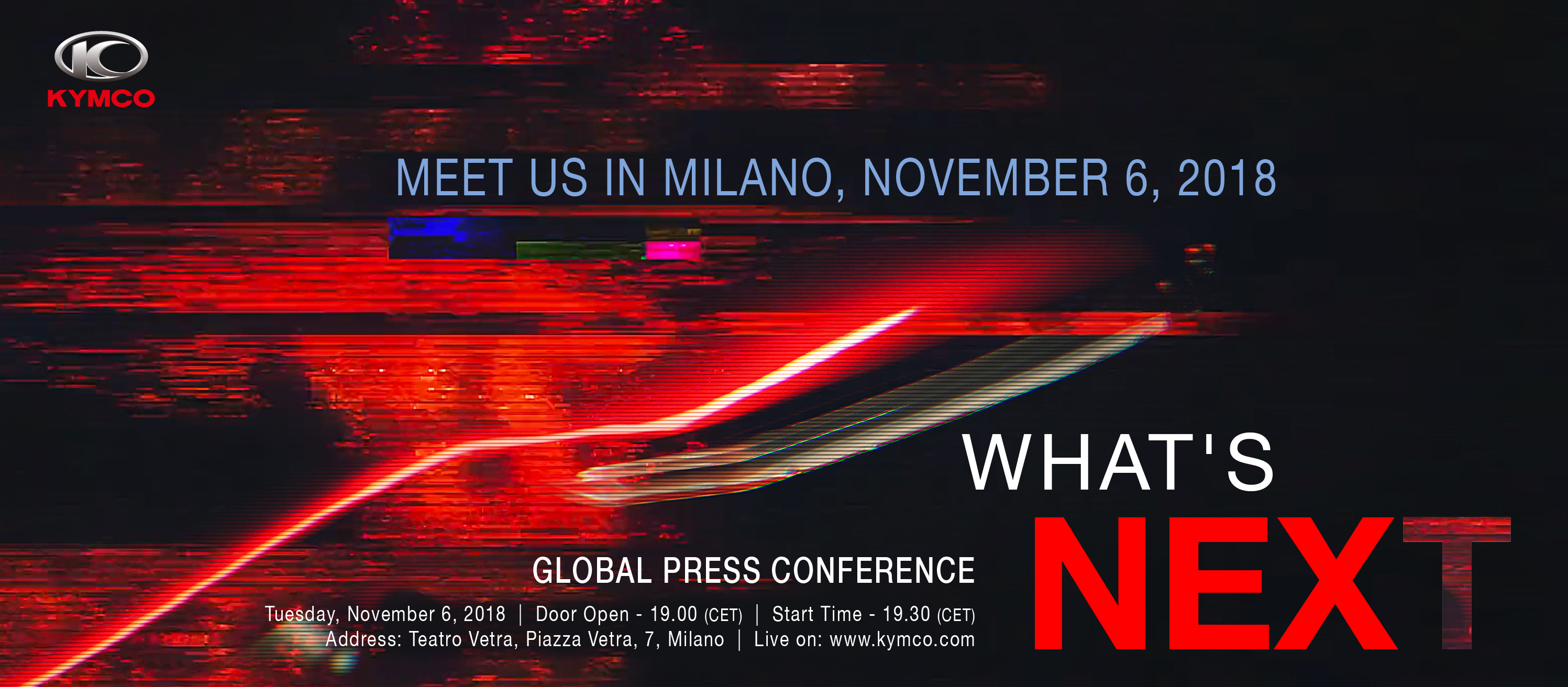KYMCO Global Press Conference at Teatro Vetra, Milano|EICMA 2018